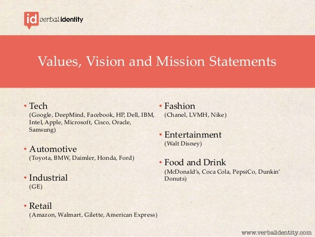 evaluating vision and mission statements at pepsico