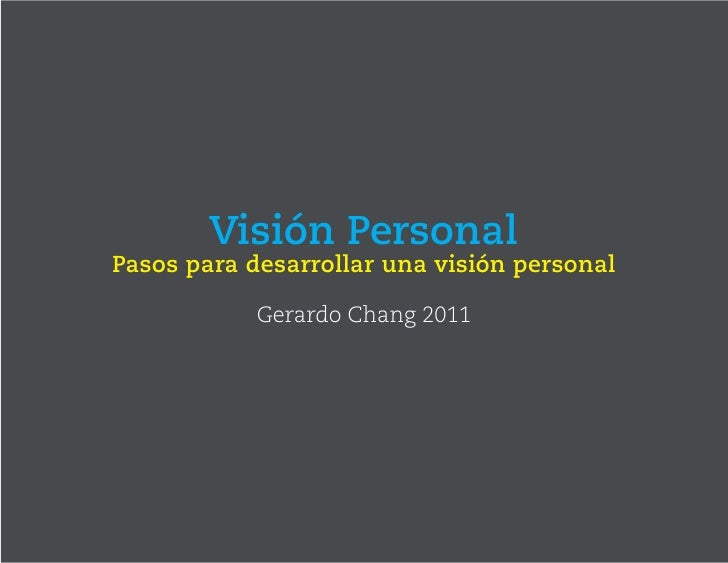 Vision personals