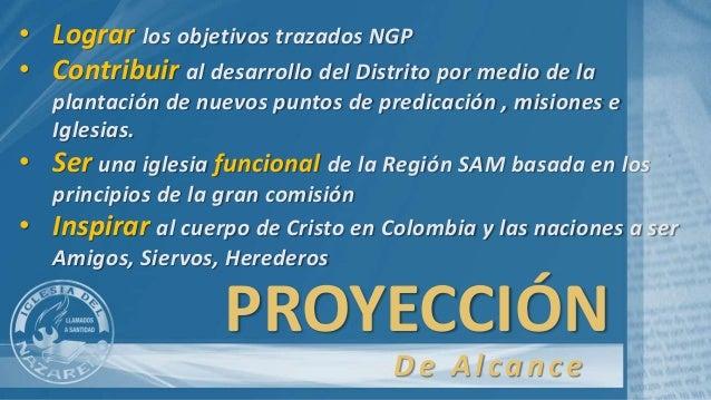 PROYECCIÓN • Lograr los objetivos trazados NGP • Contribuir al desarrollo del Distrito por medio de la plantación de nuevo...