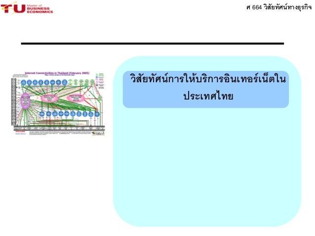 ศ 664 วิสัยทัศน์ทางธุรกิจ วิสัยทัศน์การให้บริการอินเทอร์เน็ตใน ประเทศไทย