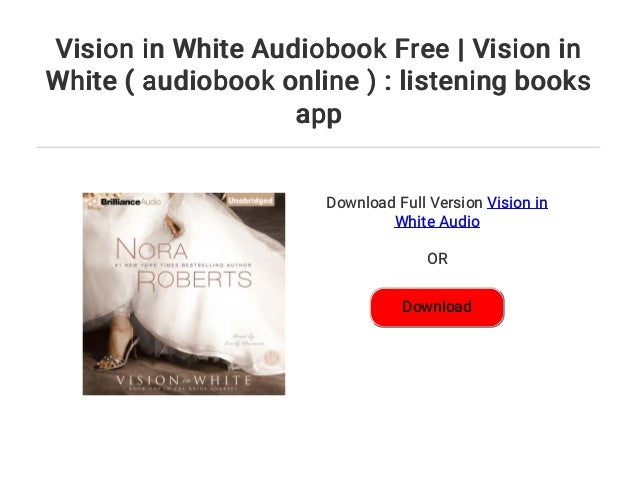Vision in White Audiobook Free | Vision in White ( audiobook online )…