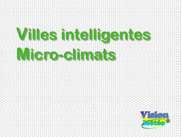 Villes intelligentes Micro-climats