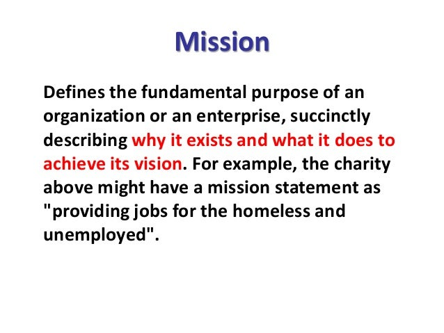Vision, Mission, Goal, Objective