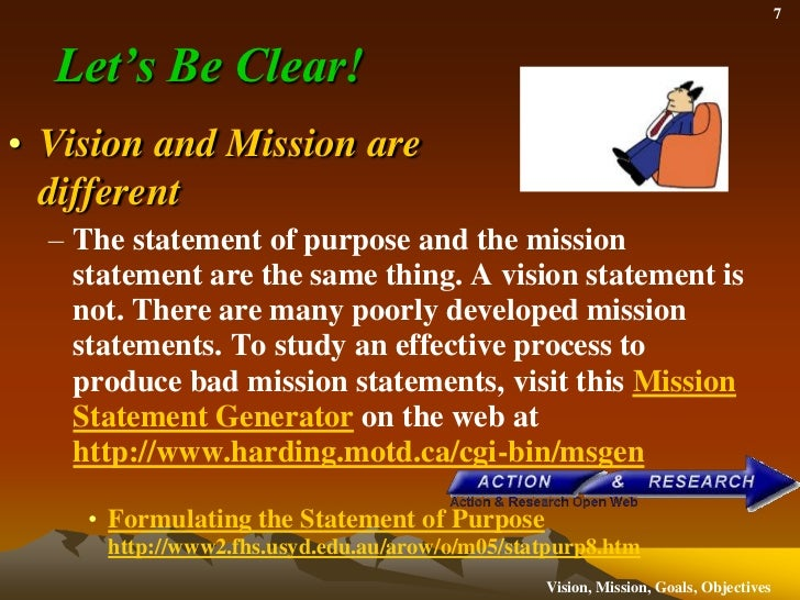is a vision statement the same as a mission statement