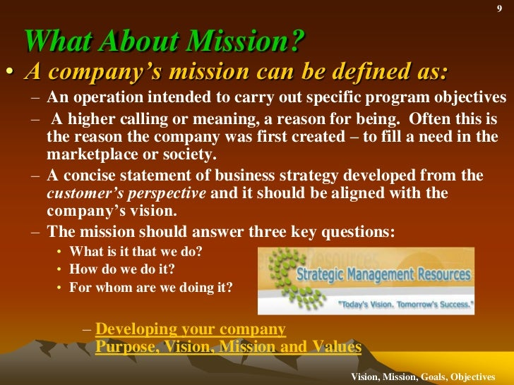 mission objective and goals of virgin Goals and objectives are important to strategic planning because they turn the mission and vision into specific measurable targets goals and objectives are concrete and help translate the mission and vision into reality.