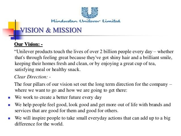 Vision Amp Mission Statements Of Selected Fmcg Organizations