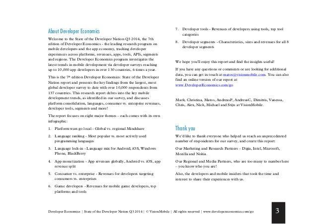 Vision mobile developer-economics-state-of-nation-q3-2014