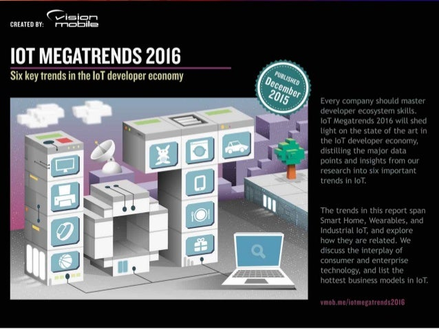 IoT Megatrends 2016 | © 2015 VisionMobile Marketlandscape reports & data Our research helps companies understand developer...
