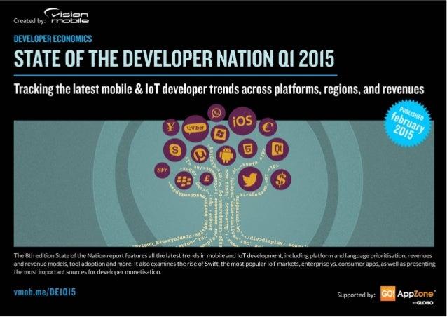 Developer Economics | State of the Developer Nation Q1 2015 | © VisionMobile | All rights reserved | www.developereconomic...