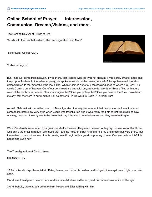 onlineschoolofprayer.webs.com http://onlineschoolofprayer.webs.com/sister-laras-vision-of-nahum Online School of Prayer In...