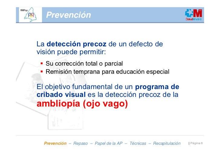 5a8ef2ddbb ... 8. PrevenciónLa detección precoz de un defecto ...