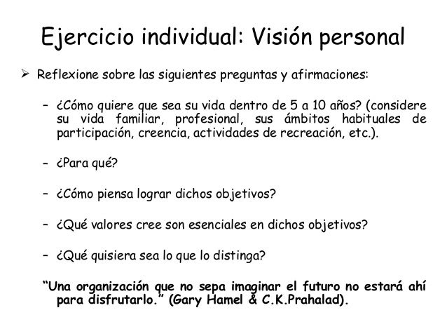 personal vision I recently spent some time revising my personal vision/mission statement for my career coaching and mentoring practice while doing this, it occurred to me that the.