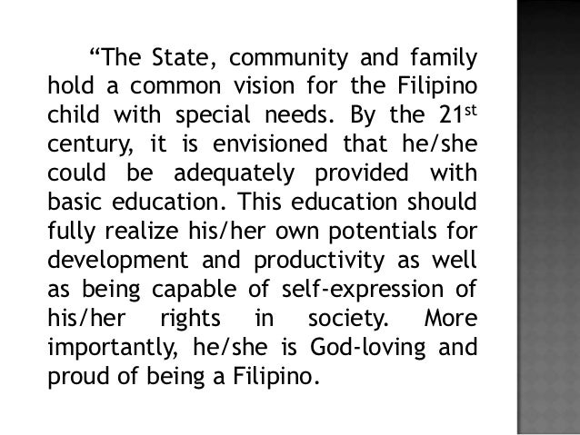educational policy in the philippines Philippines case study unedited working paper 1 environmental policy research centre of the freie philippines for up to twice as many people as the.