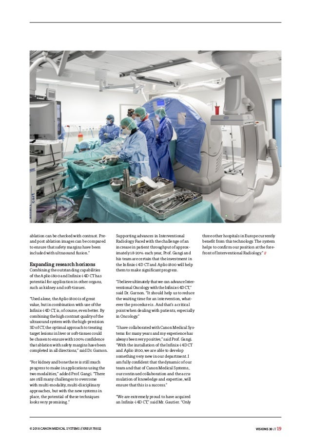 Canon Medical Systems VISIONS Magazine - issue 30