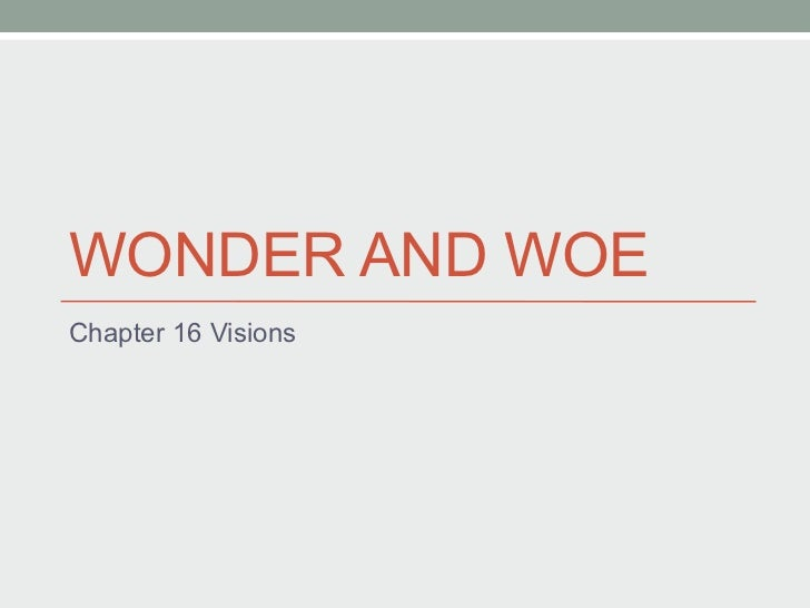 WONDER AND WOE Chapter 16 Visions