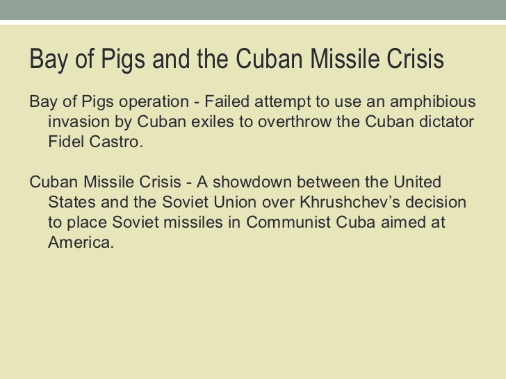 "an analysis of the decision of the soviet union to place missiles in cuba In the first days of the cuban missile crisis,  delegates that the soviet union  had not placed missiles in cuba: ""falsity is what  i am prepared to wait for my  answer until hell freezes over, if that's your decision  daily news brief sign up  for a morning roundup of news and analysis from around the world."
