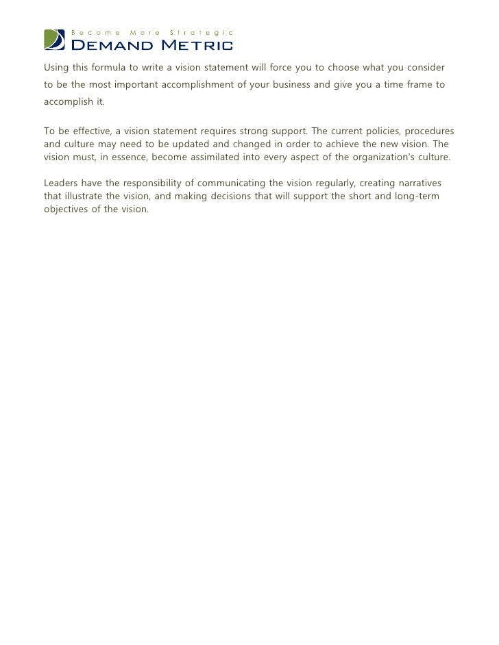 Vision Statement Worksheet – Personal Mission Statement Worksheet