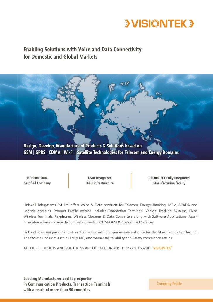 Enabling Solutions with Voice and Data Connectivity for Domestic and Global Markets     Design, Develop, Manufacture of Pr...
