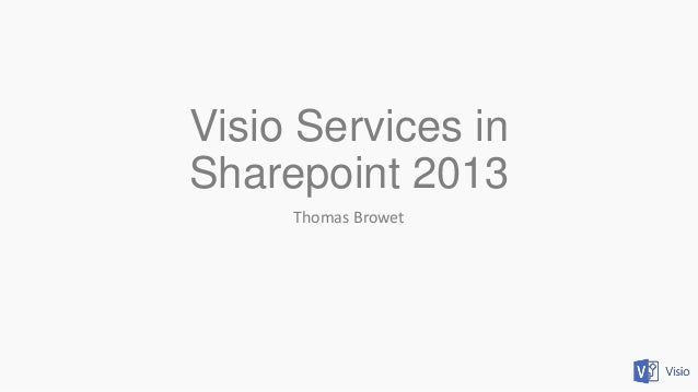 Visio Services in Sharepoint 2013 Thomas Browet