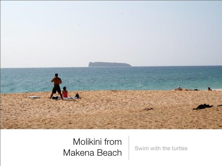 Molikini from                  Swim with the turtles Makena Beach