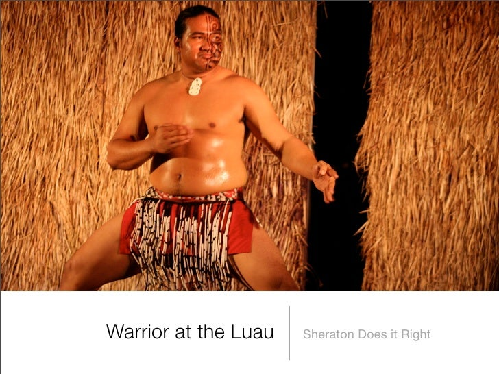 Warrior at the Luau   Sheraton Does it Right