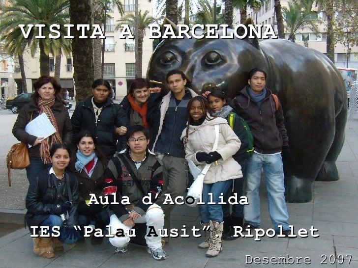 """VISITA A BARCELONA Aula d'Ac o llida  IES """"Pal a u  A usit"""". Ripollet Desembre 2007"""