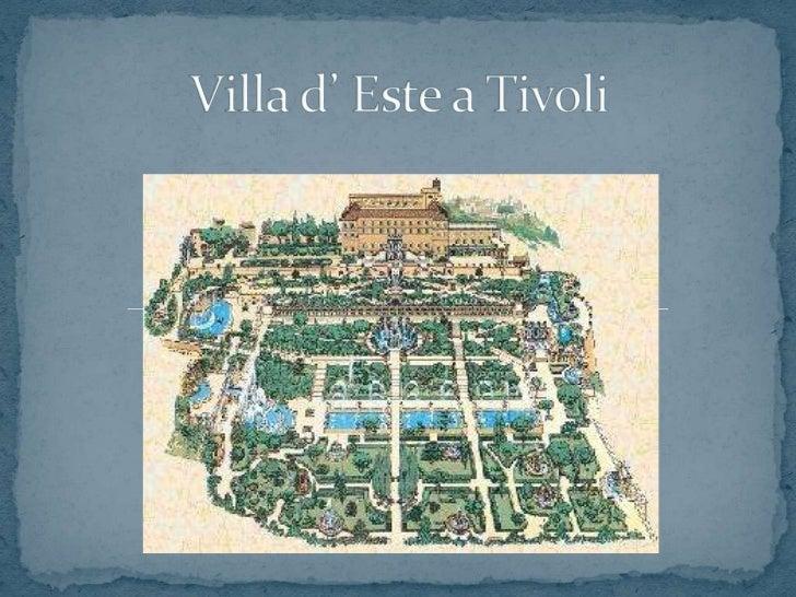 Visita villa d 39 este a tivoli for Vajilla villa d este