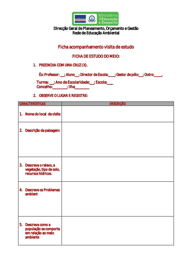 Direcção Geral de Planeamento, Orçamento e Gestão                                  Rede de Educação Ambiental             ...