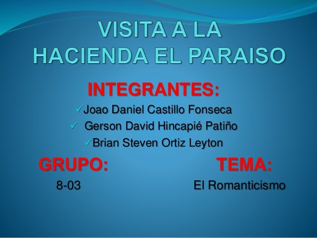 INTEGRANTES:  Joao Daniel Castillo Fonseca   Gerson David Hincapié Patiño  Brian Steven Ortiz Leyton  GRUPO: TEMA:  8-0...