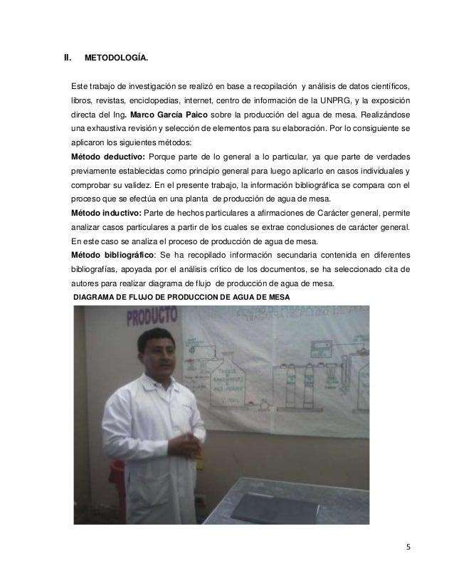 5 II. METODOLOGÍA. Este trabajo de investigación se realizó en base a recopilación y análisis de datos científicos, libros...