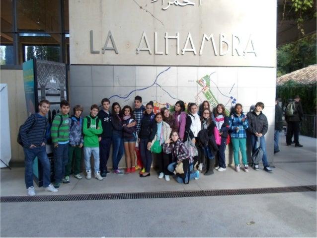Visita 2º ESO A a la Alhambra y al Generalife 15 octubre 2012