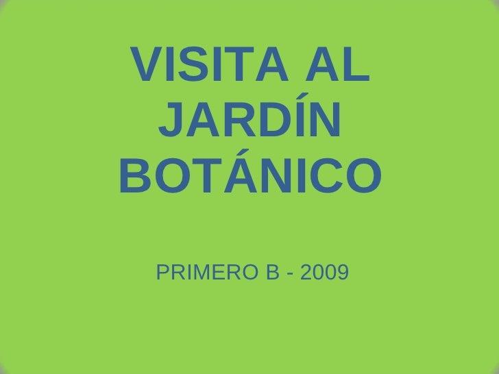 VISITA AL JARDÍN BOTÁNICO PRIMERO B - 2009