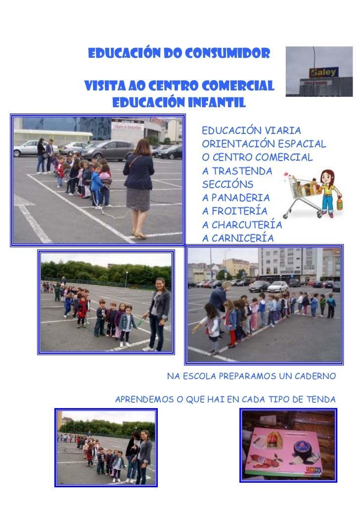 EDUCACIÓN DO CONSUMIDORVISITA AO CENTRO COMERCIAL    EDUCACIÓN INFANTIL                    EDUCACIÓN VIARIA               ...