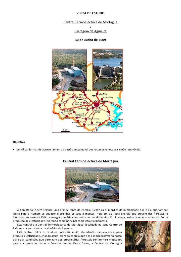 VISITA DE ESTUDO                                         Central Termoeléctrica de Mortágua                               ...