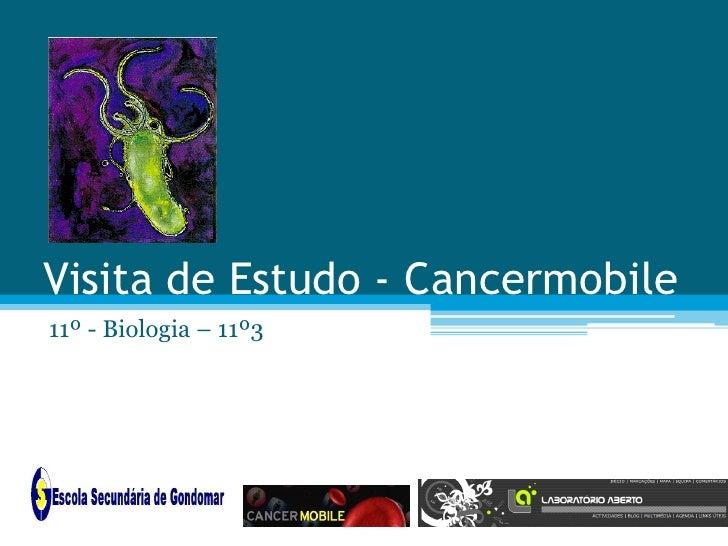 Visita de Estudo - Cancermobile11º - Biologia – 11º3