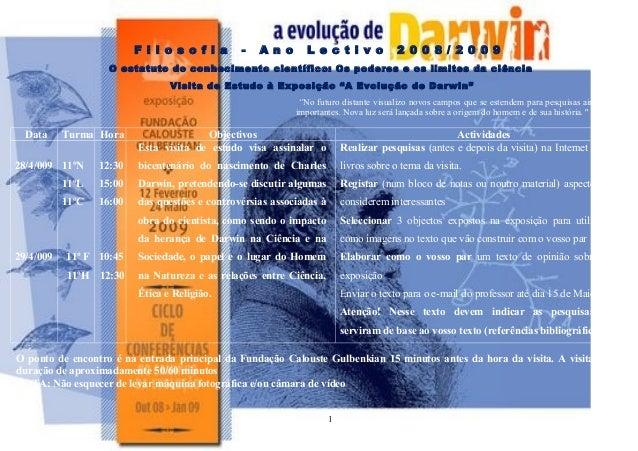 F i l o s o f i a - A n o L e c t i v o 2 0 0 8 / 2 0 0 9 O estatuto do conhecimento científico: Os poderes e os limites d...