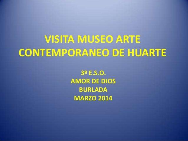 VISITA MUSEO ARTE CONTEMPORANEO DE HUARTE 3º E.S.O. AMOR DE DIOS BURLADA MARZO 2014