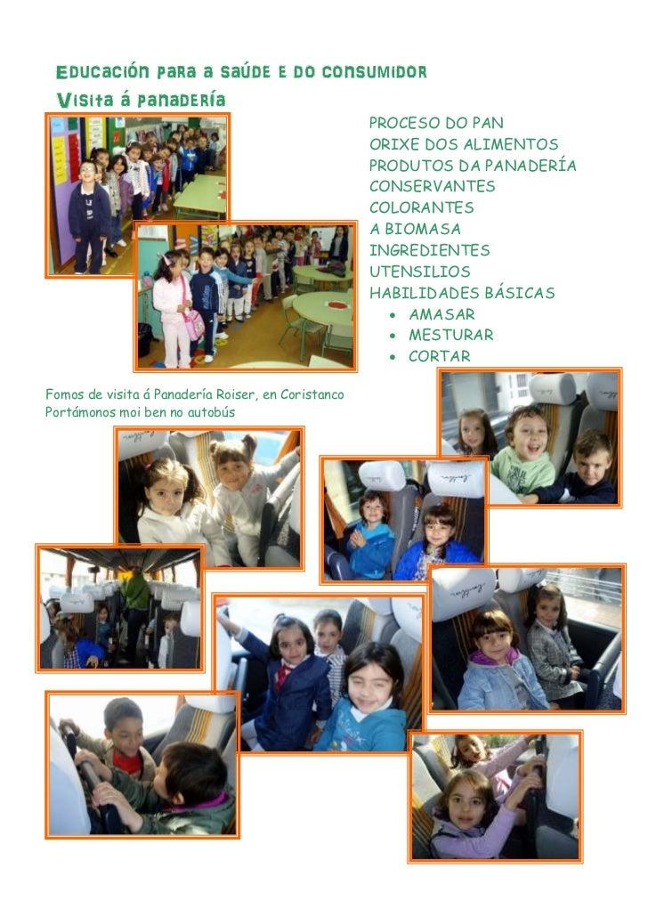 Educación para a saúde e do consumidor Visita á panadería                                                    PROCESO DO PA...