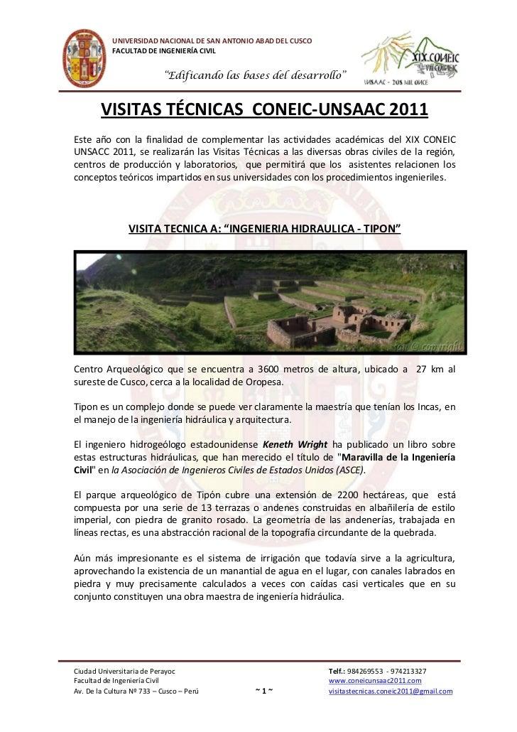 """UNIVERSIDAD NACIONAL DE SAN ANTONIO ABAD DEL CUSCO            FACULTAD DE INGENIERÍA CIVIL                           """"Edif..."""