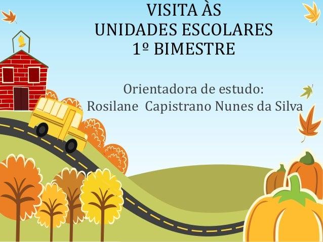 VISITA ÀSUNIDADES ESCOLARES1º BIMESTREOrientadora de estudo:Rosilane Capistrano Nunes da Silva