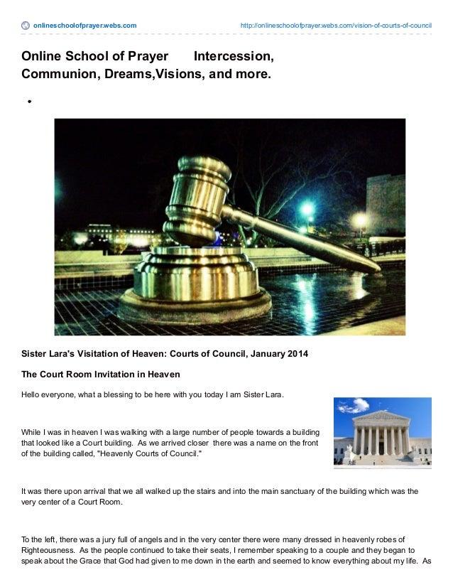 onlineschoolofprayer.webs.com http://onlineschoolofprayer.webs.com/vision-of-courts-of-council Online School of Prayer Int...