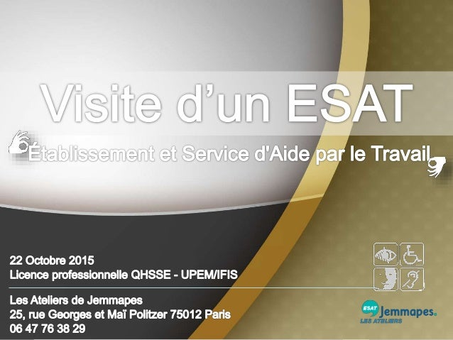 Dans le cadre de notre formation Licence QHSSE, nous avons effectué une visite à l'ESAT. Nous avons été accueilli par le D...