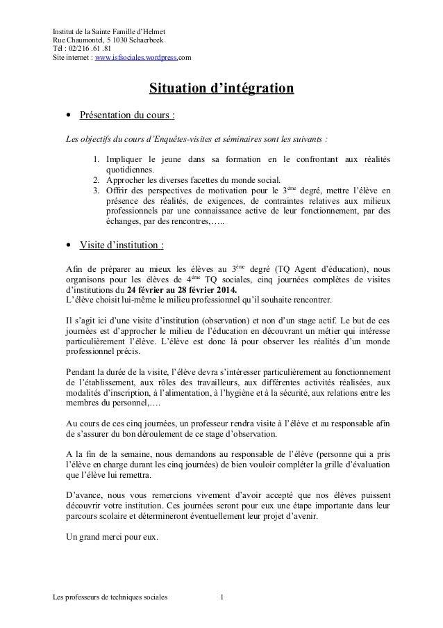 Visite D Institution Lettre Pour Responsable