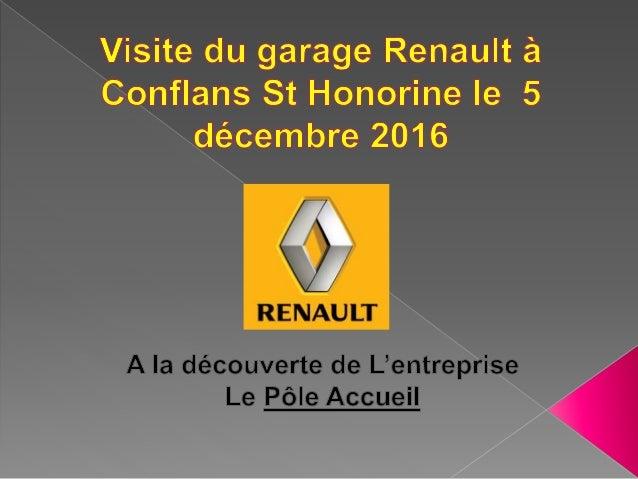  L'entreprise Renault est à Conflans St Honorine au 18 Boulevard Salvador Alliendé.  Ils ont aussi un site internet : WW...