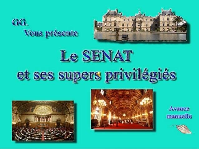 Palais du LuxembourgPalais du Luxembourg Le Sénat Français.Le Sénat Français. Et nos très chers sénateurs.Et nos très cher...