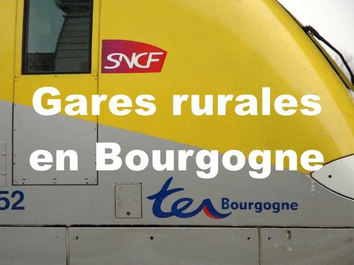 Gares rurales en Bourgogne