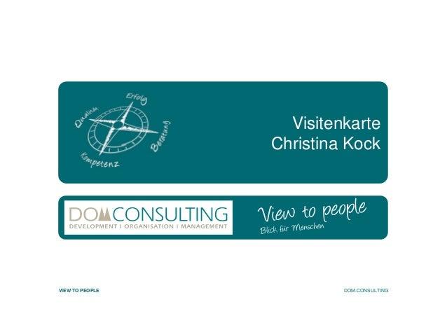 Dom Consulting Christina Kock Visitenkarte