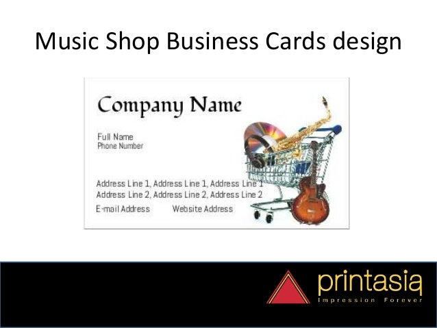 Music Shop For You Enjoy With Visiting Cards Printasia