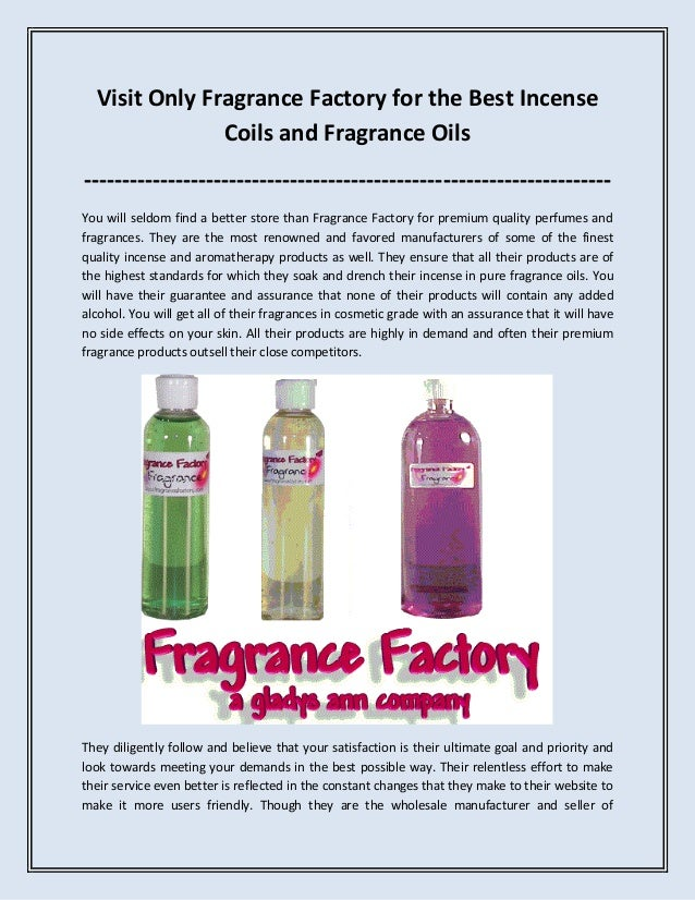 Visit Only Fragrance Factory for the Best Incense Coils and Fragrance Oils -----------------------------------------------...