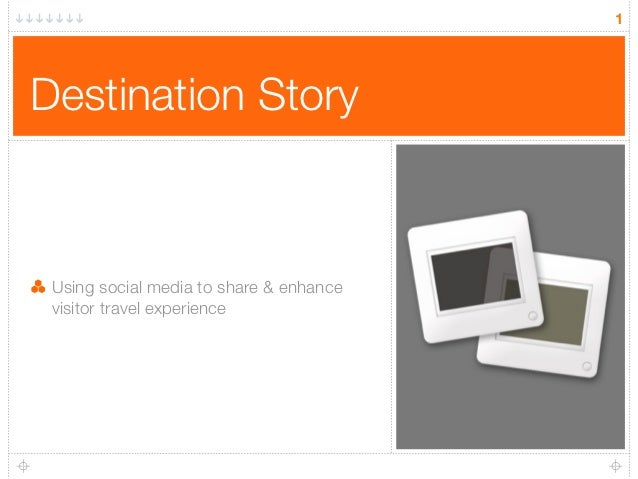 1Destination Story Using social media to share & enhance visitor travel experience